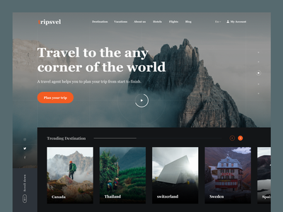 Travel Agency - Landing Page digital agency clean ui creative creative design uiux design ux ui ui design web ui landing page layout design product design minimal template travel agency vacation website web web design web designer