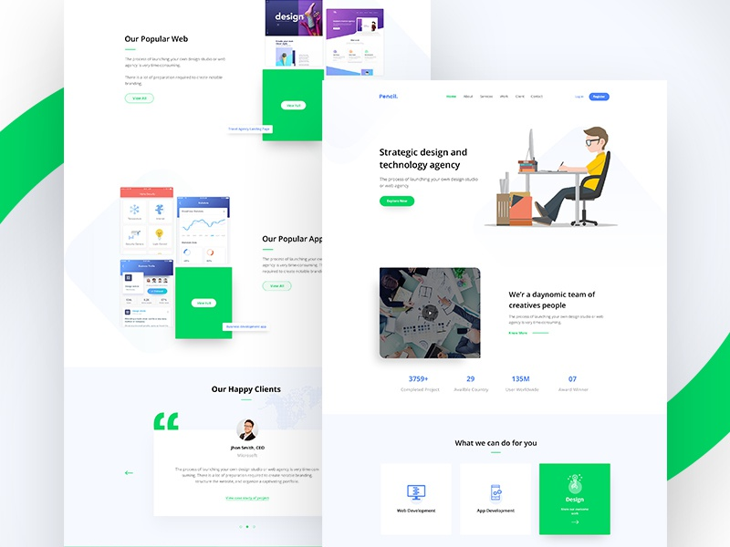 Digital agency landing page concept