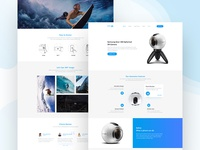 Gear 360° - product landing page concept