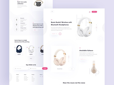 Headphone Landing Page Concept