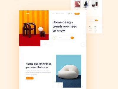 Trendy Home Shop Landing Page