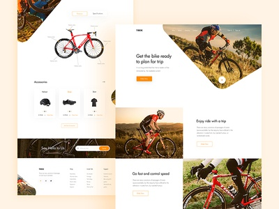 Bicycles Landing Page