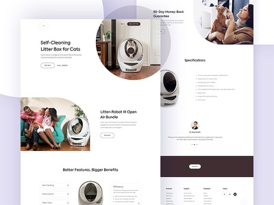 Product Landing Page web design minimal e-commerce cats open air bundle clean business trendy web ui ux