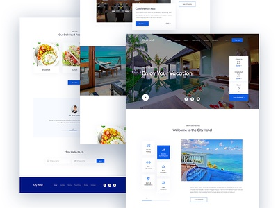 Hotel Booking Website ux ui webdesign vacation travel tourism restaurant resort reservation hotel booking agency