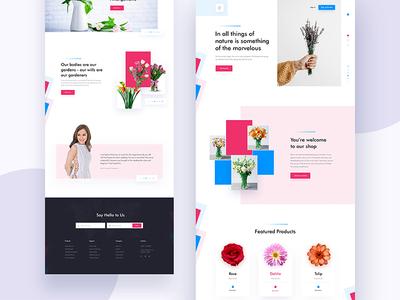 Website For Flower Shop design homepage minimal landing page product web template website flower shop e-commerce ui ux