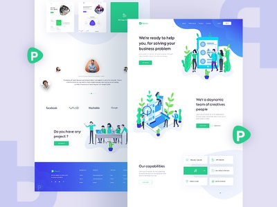Agency Website   For Your Business Solution ux ui website business solution trendy minimal layout landing page homepage creative clean agency