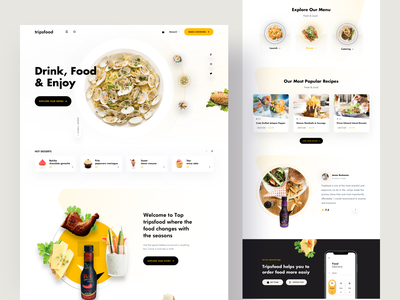 Food Landing Page Designs Themes Templates And Downloadable Graphic Elements On Dribbble