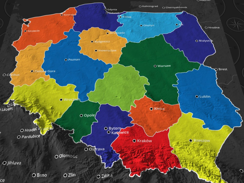 Poland Map by dorusoftware on Dribbble