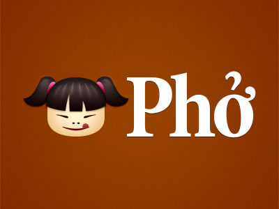 Pho logo logotype identity pho soup website