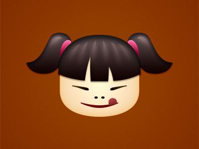 Pho (rebound) logo logotype identity pho girl face character