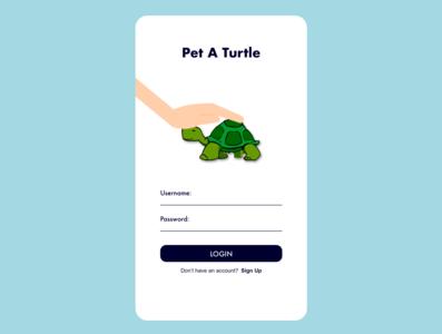 001 DailyUI - Pet A Turtle