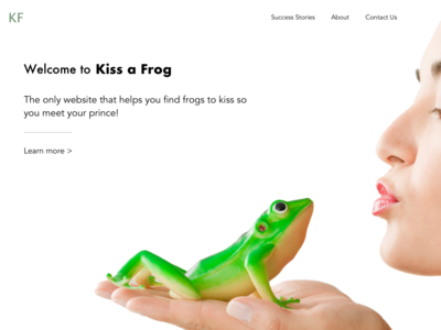 Kiss Frogs - Find Prince Landing Page