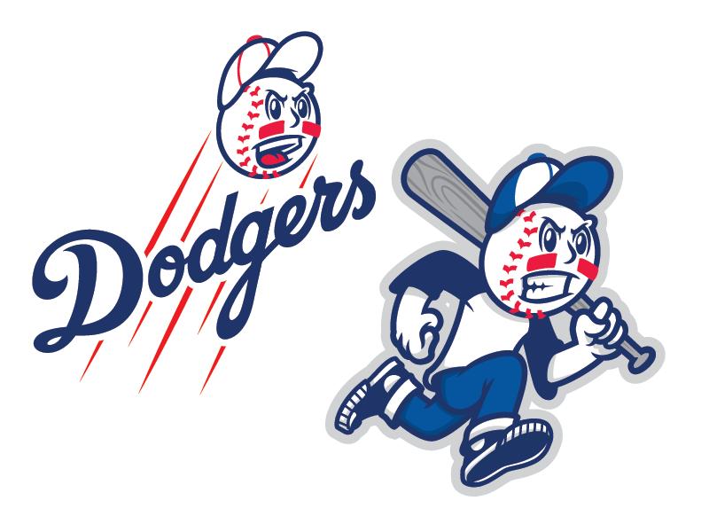 Mascot Concept companylogo graffitimascot dodgers mlb basball teamlogo sportslogo logo character mascot