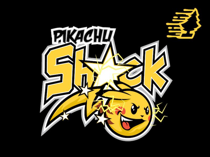 Pikachu SHOCK!!! team logo pokemongo pokemon sportslogo tee character mascot pikachu
