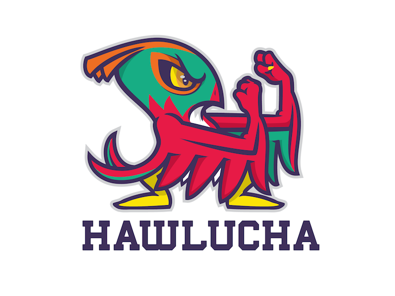 Hawlucha custom teedesign character logo mascot ash pokemon fighting hawlucha