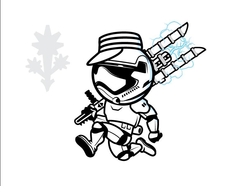 Mr Trooper starwars customlogo graphicdesign teedesign character mascot illustration