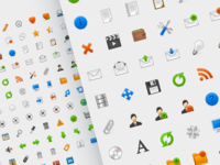 The icon set from 2012 ;) colorful pixel perfect design iconography interface ui design ui color icon freebie psd free icon set