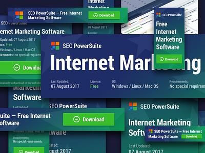 Banner Set advert gradient color seo web marketing internet banner