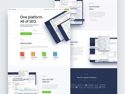 SEO PowerSuite index page spftware application app color seo page landing web design site website