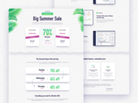 Landing page design for Summer Sale 2019