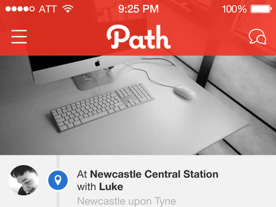 Path – iOS7 Redesign