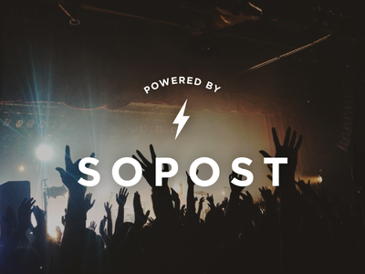 Powered by SoPost powered power sopost branding logo white
