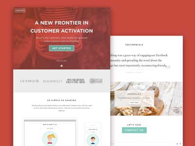 SoPost Home Page sopost home testimonials button red page web website design