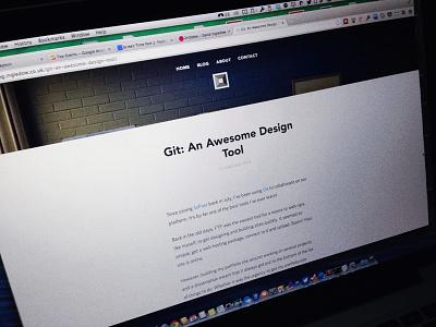 The Blog of David Ingledow github blog article layout post david ingledow text