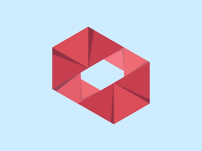 Research Through Design Logo rtd 2015 logo branding icon red origami paper fold folds shadow