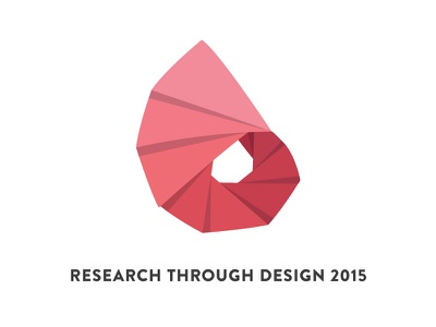 RTD2015 Logo logo red origami paper fold folding brand branding spiral shadow