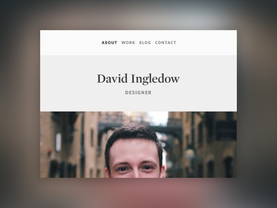Personal Website Header navigation ui web flat photo minimal portfolio clean website header nav heading
