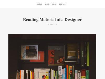 Reading Material books photo blog minimal clean flat