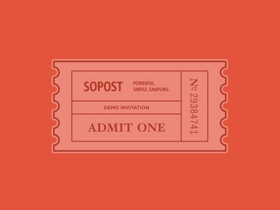 Demo Product Invitation invitation ticket illustration sopost