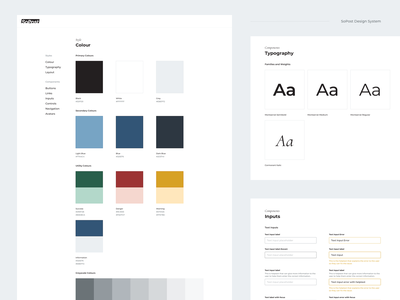 SoPost Design System ui kit component library documentation typogaphy colour palette user interface styleguide style guide guidelines design system ui