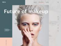 Makeup company landing page 1x