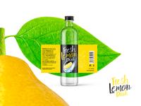 Lemon Drink Label Design