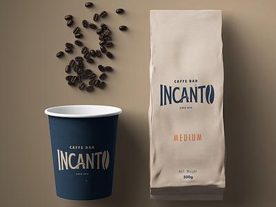 INCANTO - Caffe Bar logotype graphocdesogn branding design brand caffe caffee coffebar incanto