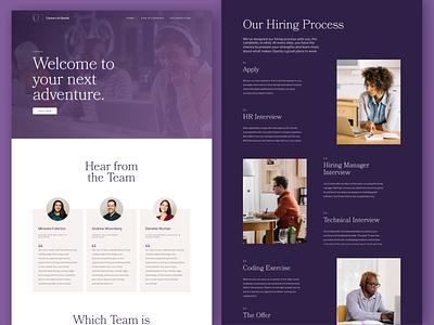 Openly Careers Interactive purple garamond web branding visual design ui