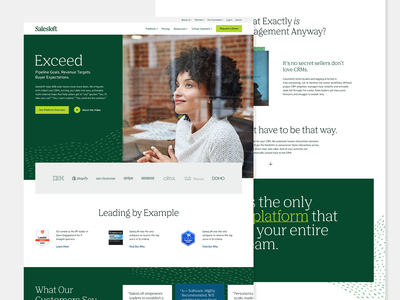 Salesloft Interactive pattern interactive design green identity web ux ui branding