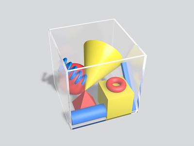 Box of Goodies cinema4d shadow illustration lighting materials boole spline primitive 3d