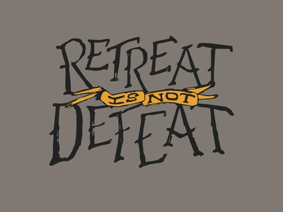 Defeated Lettering
