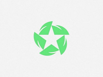 Nice Cuts pt. II logo brand lawn landscaping mark pinwheel star leaf