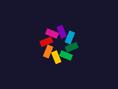 Pinwheel Color Spectrum Study logo pinwheel star spectrum colors mark