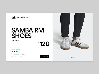 Adidas Samba RM Concept ecommerce layout typography samba adidas concept website ui web design