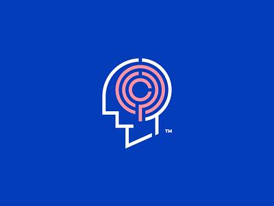 Brain Maze mark maze brain design identity branding logo