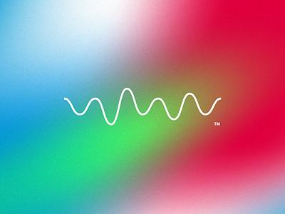 Wave grain gradient brainwaves wave mark identity logo branding