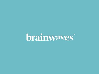 Brainwaves pt. II therapy water waves wordmark typography design identity branding logo