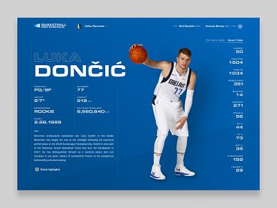 Basketball Reference eurostile typography information design stats nba basketball reference luka mavericks basketball web design ui