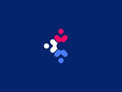 C + Community + Heart Mark community heart c identity branding logo symbol logomark mark