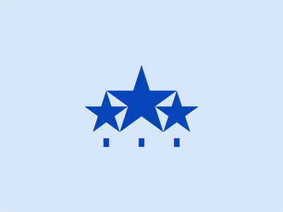 Tri-Star Realty brand symbol real estate stars design logo mark identity branding